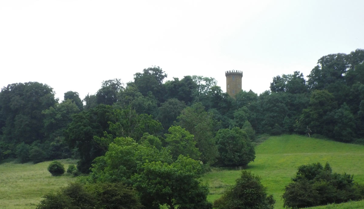 View of the Tower on Edgehill: Battle of Edgehill on 23rd October 1642 in the English Civil War