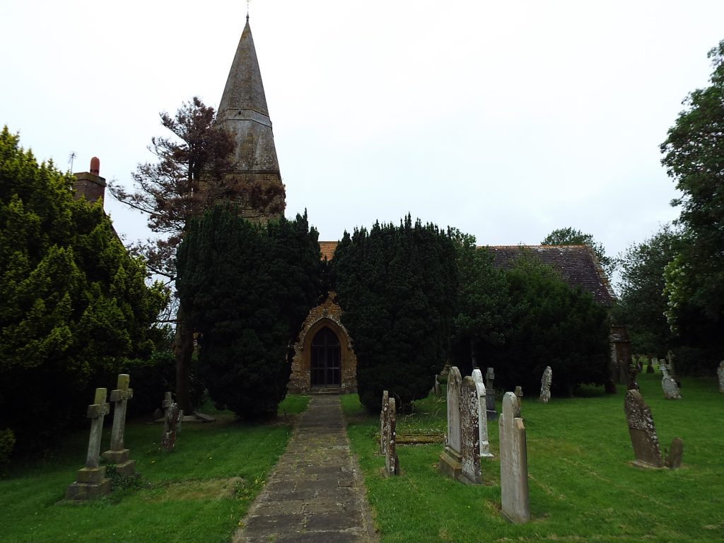 Radway Church : Battle of Edgehill 23rd October 1642 in the English Civil War