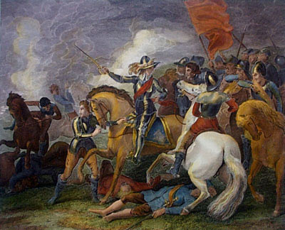Battle of Edgehill on 23rd October 1642 in the English Civil War