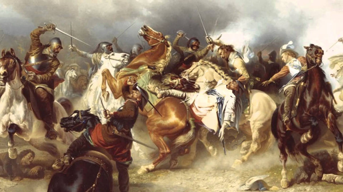 Cavalry battle at the time of the English Civil War: Battle of Cheriton 29th March 1644
