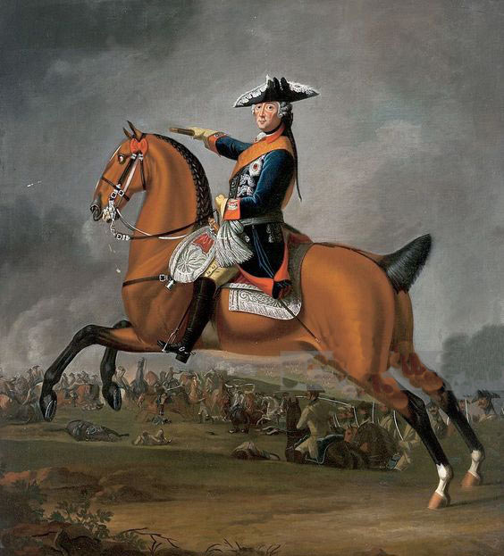 Frederick II, King in Prussia, 'Frederick the Great': picture by David Morier: click here to buy a picture of Frederick the Great