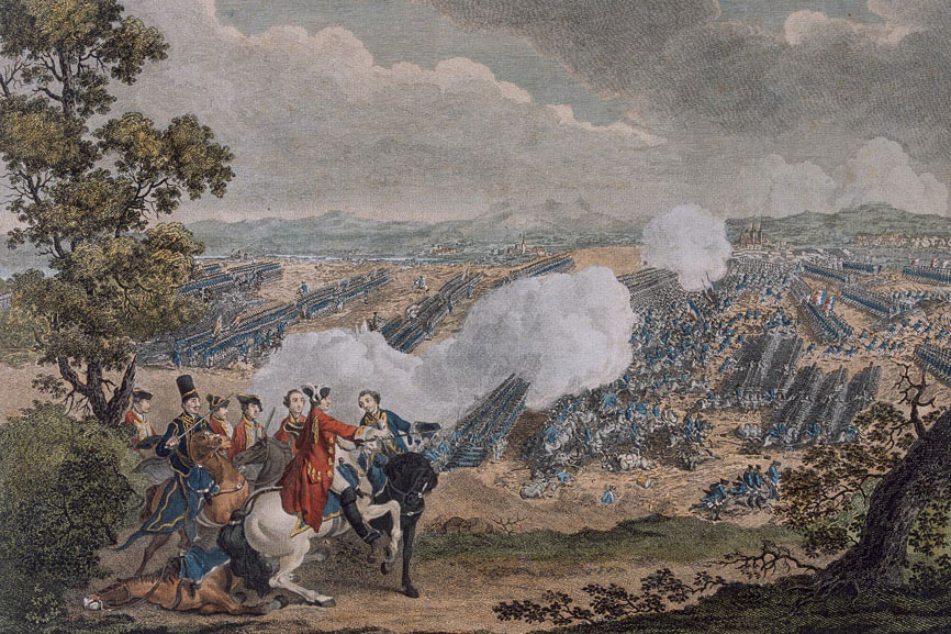 The Battle of Minden 1st August 1759 in the Seven Years War: click here to buy this picture