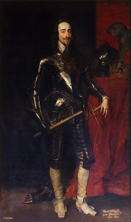King Charles I, King of England: picture by Sir Anthony van Dyck: click here to buy this picture