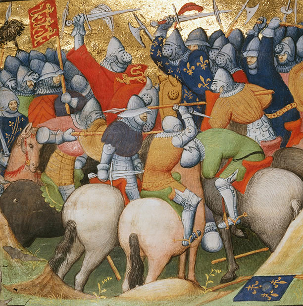 Battle of Creçy on 26th August 1346 in the Hundred Years War: click here to buy this picture