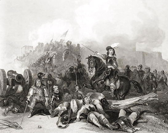 The Storming of Bristol on 26th July 1643 in the English Civil War