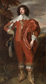 William Villiers 2nd Viscount Grandison mortally wounded at the Storming of Bristol on 29th July 1643: picture after Anthony van Dyck