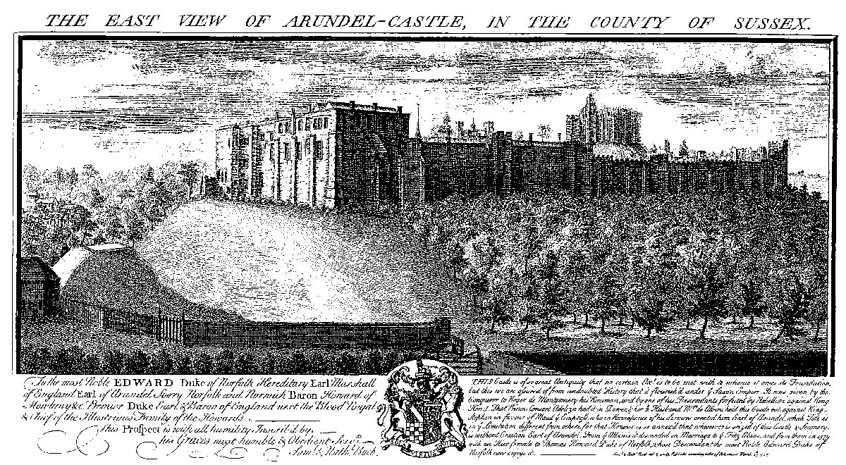 Arundel Castle; captured and re-captured during 1643 and 1644 by Royalist and Parliamentary forces in the English Civil War
