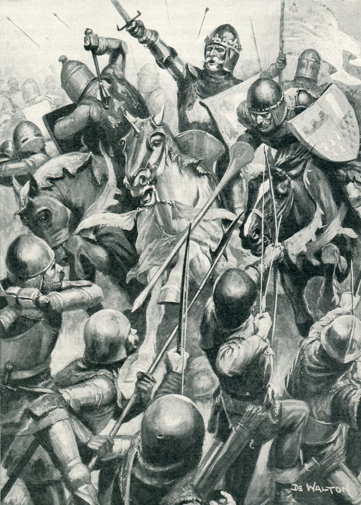 battle of cre ccedil y blind king john of bohemia at the battle of creccedily on 26th 1346 in the