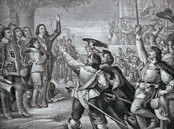 King Charles I raises his standard