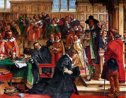 The attempted arrest of the 5 members of Parliament by King Charles I on 4th January 1642, the incident that prompted King Charles to leave London, and triggered the English Civil War