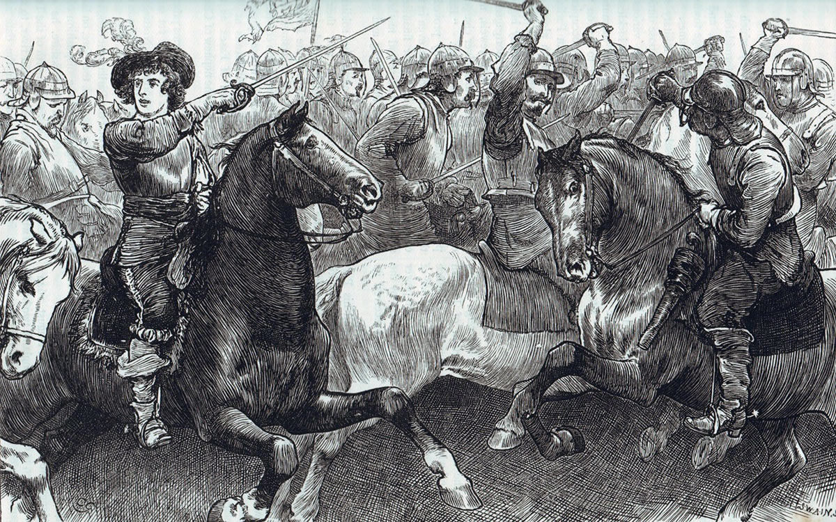 Prince Rupert at the Battle of Edgehill
