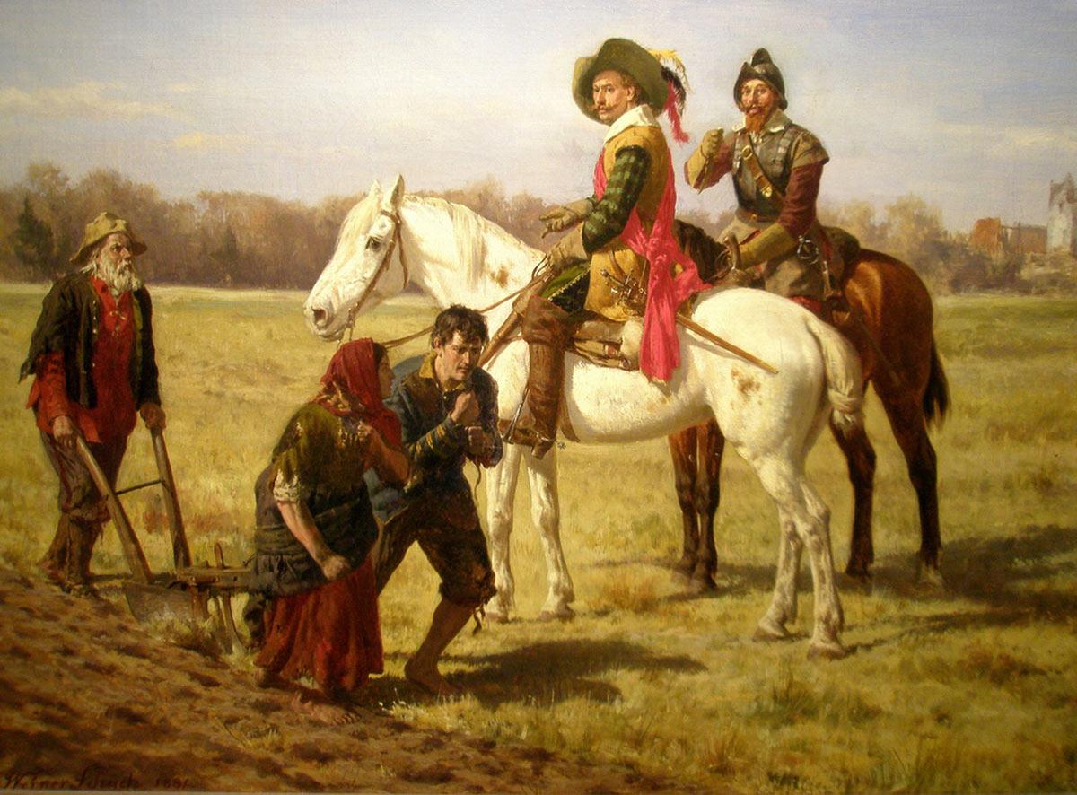Battle of Cropredy Bridge on 29th June 1644 in the English Civil War
