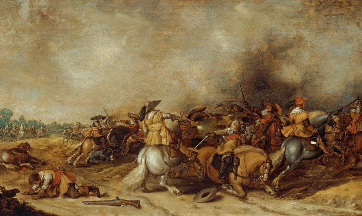 Cavalry Action at the time of the English Civil War: Battle of Cropredy Bridge on 29th June 1644 in the English Civil War