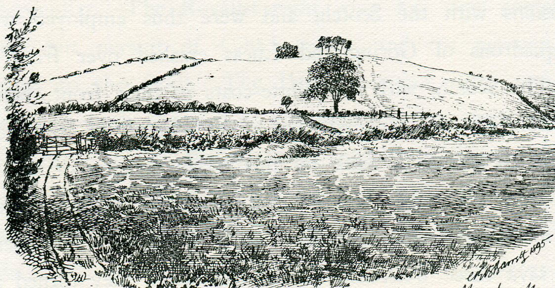Marston Moor looking south from the Royalist position at the beginning of the Battle of Marston Moor on 2nd July 1644 in the English Civil War: drawing by C.R.B. Barrett