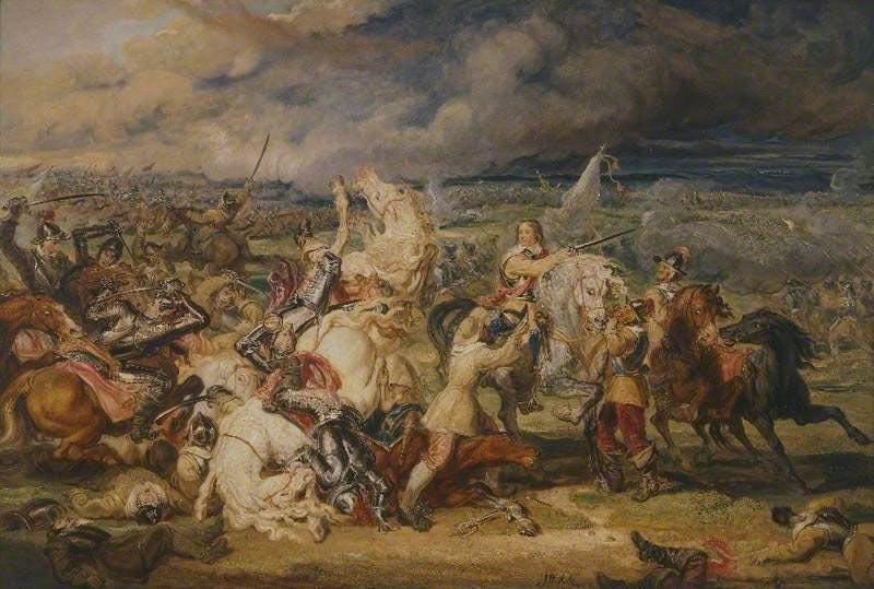 Battle of Marston Moor on 2nd July 1644 in the English Civil War: picture by James Ward