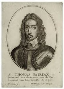 Sir Thomas Fairfax Parliamentary Commander at the Battle of Marston Moor on 2nd July 1644 in the English Civil War: click here to buy a picture of Sir Thomas Fairfax