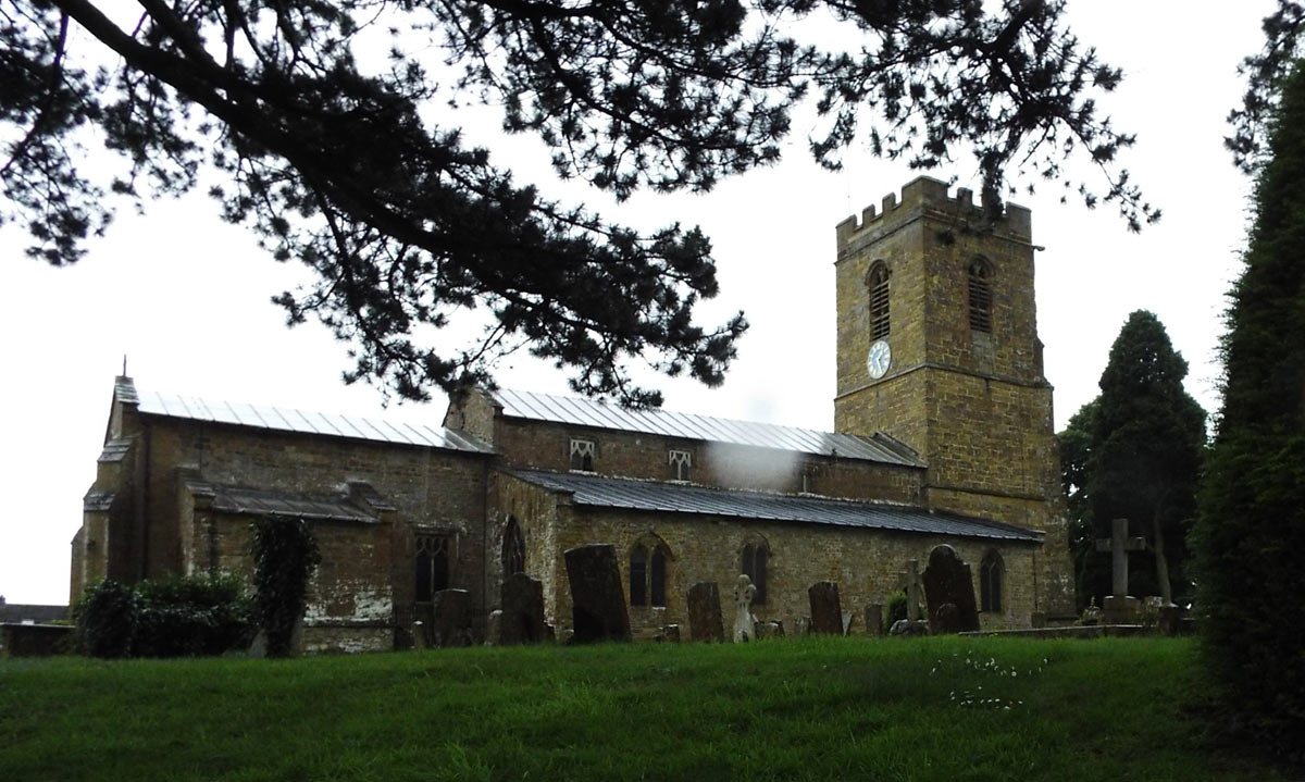 Wardington Church: Battle of Cropredy Bridge on 29th June 1644 in the English Civil War