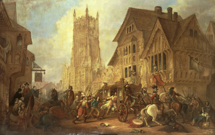 The City of York after The Battle of Marston Moor on 2nd July 1644 in the English Civil War
