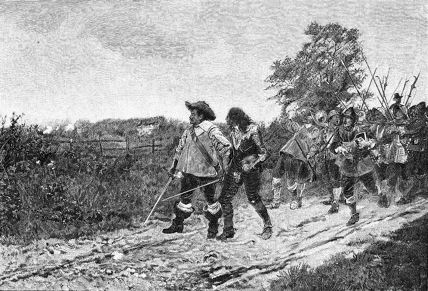 Battle of Cropredy Bridge on 29th June 1644 in the English Civil War