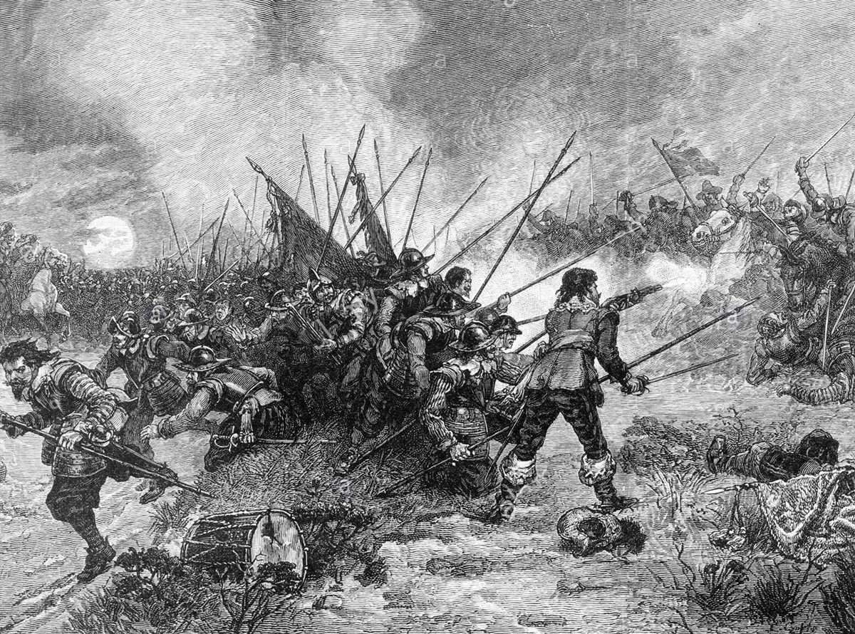 Battle of Marston Moor 2nd July 1644 in the English Civil War