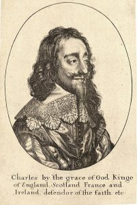 King Charles I Royalist Commander at the Battle of Lostwithiel 11th August to 2nd September 1644 in the English Civil War