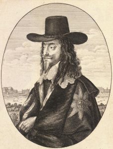 King Charles I: Second Battle of Newbury 27th October 1644 during the English Civil War: engraving by Wencelaus Hollar