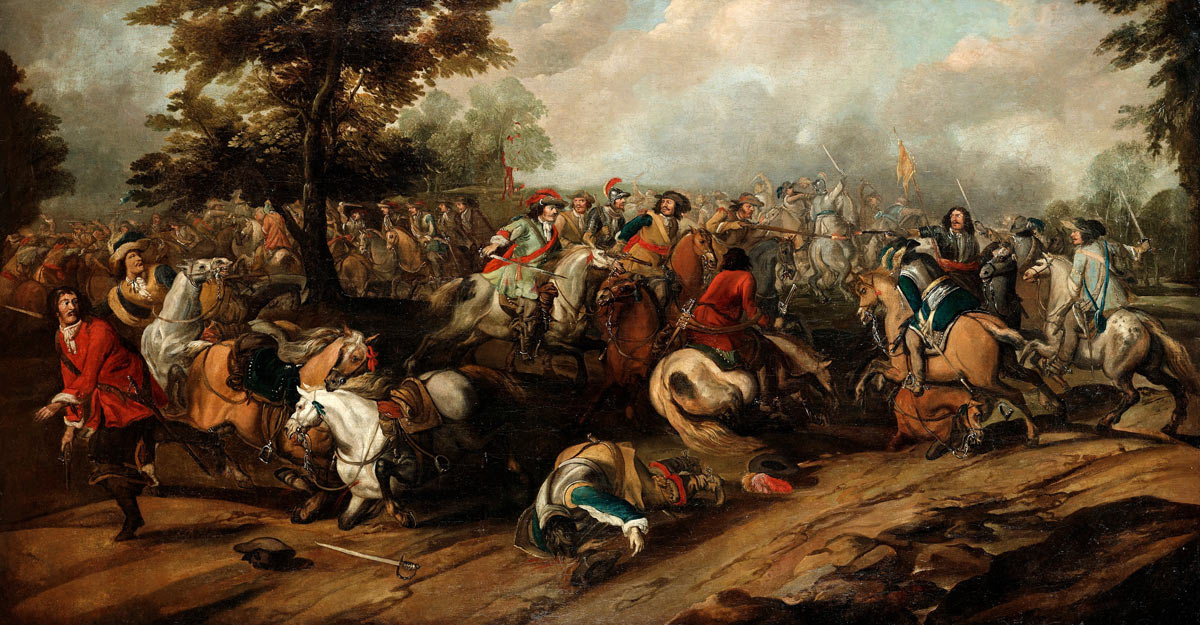 Second Battle of Newbury 27th October 1644 during the English Civil War: picture by Peter Sneyers