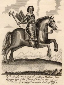 Sir William Balfour Parliamentary Cavalry Commander at the Battle of Lostwithiel 11th August to 2nd September 1644 in the English Civil War: a contemporary engraving by an unknown artist