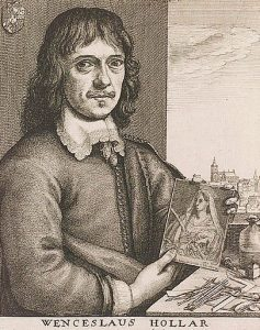 Wencelaus Hollar engraver and member of the Basing House garrison from 1643 to the Storming on 14th October 1645 during the English Civil War: engraving by W. Skelton: click here to buy this picture