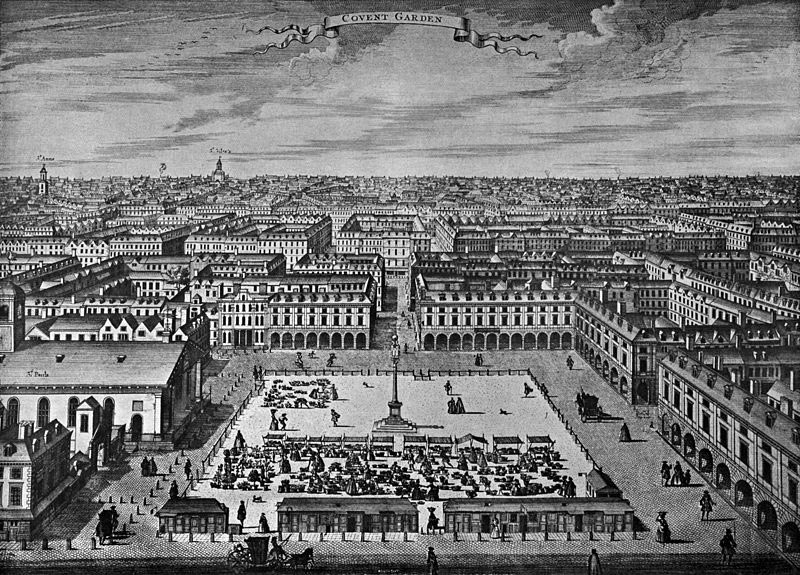 Covent Garden designed and built by Inigo Jones for the Earl of Bedford in the 1630s: Jones was in the garrison of Basing House when it was stormed on 14th October 1645: Siege of Basing House 1642 to 1645 during the English Civil War
