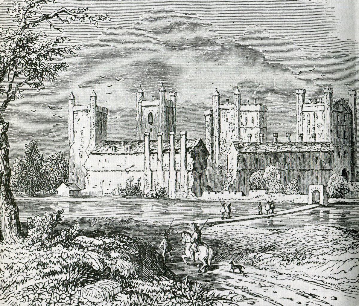 Basing House after the Siege but before its final destruction during the English Civil War