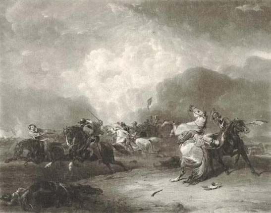 Battle of Naseby 14th June 1645 during the English Civil War
