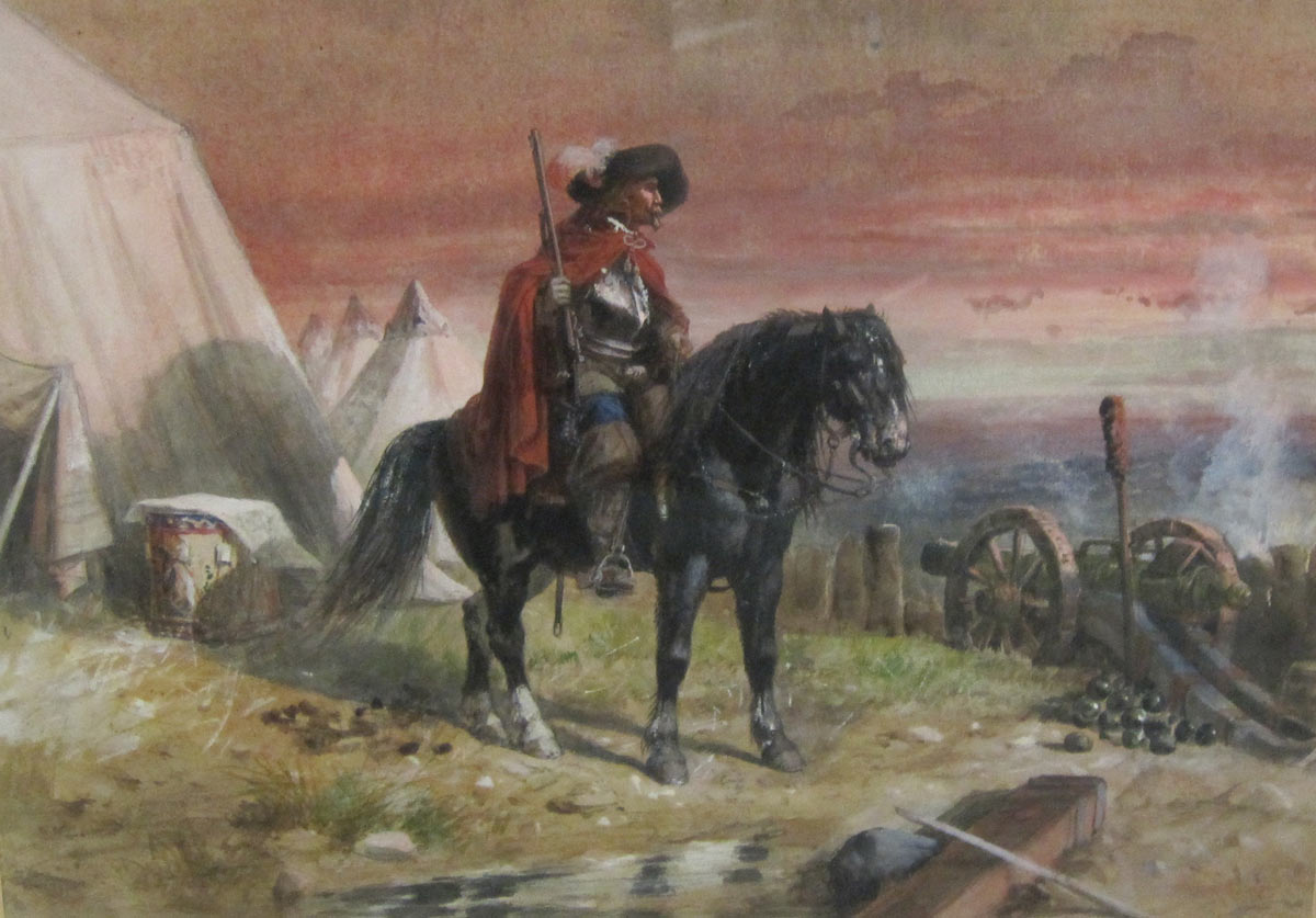 Before the battle: Battle of Naseby 14th June 1645 during the English Civil War: picture by Richard Beavis