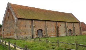 The 'Bloody Barn' sole remaining building from the Basing House Grange: Siege of Basing House 1642 to 1645 during the English Civil War