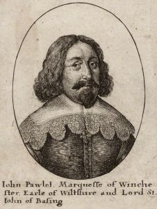 John Paulet 5th Marquess of Winchester the owner and defender of Basing House between 1642 and 1645 during the English Civil War: engraving by Wencelaus Hollar himself a member of the Basing House garrison