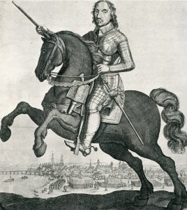 Oliver Cromwell commander of the Parliamentary right wing at the Battle of Naseby 14th June 1645 during the English Civil War: click here to buy a picture of Oliver Cromwell