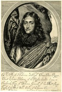 Prince Rupert engraved by William Faithorne member of the Basing House garrison: Siege of Basing House 1642 to 1645 during the English Civil War