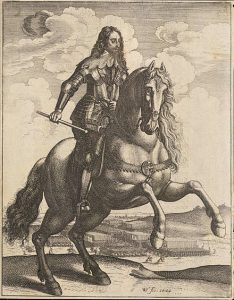 King Charles I: Siege of Basing House 1642 to 1645 during the English Civil War: engraving by Wencelaus Hollar himself a member of the Basing House garrison