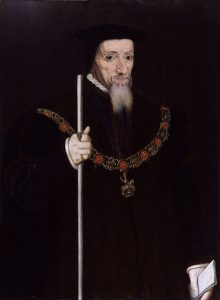 William Paulet 1st Marquess of Winchester and builder of Basing House holding the staff of officer of Lord High Treasurer