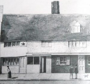The Fleur de Lys Inn in Basingstoke quarters to Oliver Cromwell the night before the final assault on Basing House on 14th October 1645: Siege of Basing House during the English Civil War