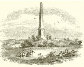 Obelisk commemorating the Battle of Naseby 14th June 1645 during the English Civil War: click here to buy this picture