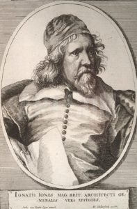 Inigo Jones the Architect and member of the Basing House garrison from 1643 to the Storming on 14th October 1645: Siege of Basing House 1642 to 1645 during the English Civil War: engraving by Hollar a fellow member of the garrison: click here to buy this picture