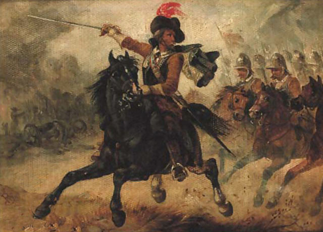 The Charge: Battle of Chalgrove 18th June 1643 in the English Civil War: picture by Richard Beavis