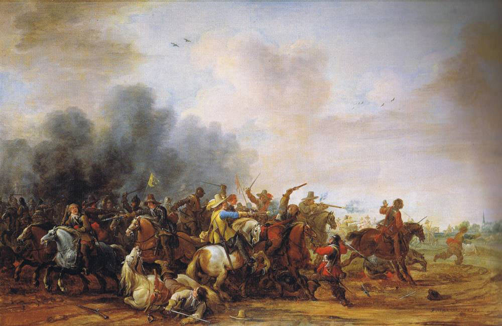 Battle of Adwalton Moor 30th June 1643 during the English Civil War: picture by Jean Moust