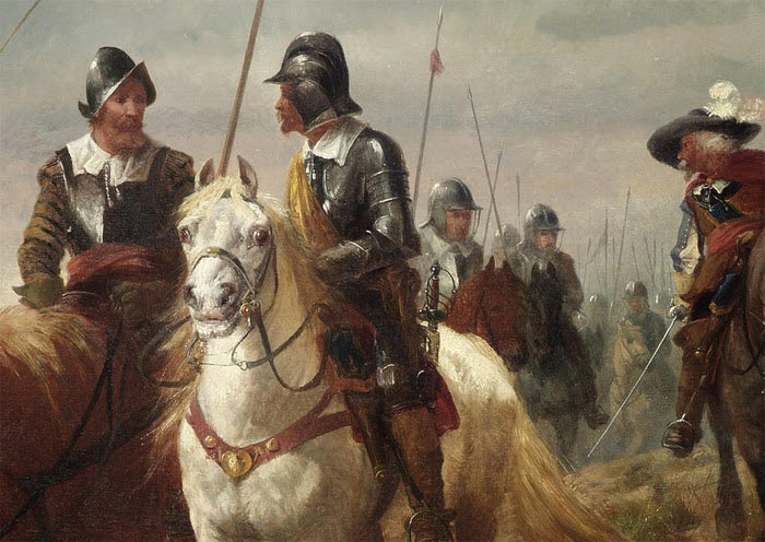On the march: Battle of Chalgrove 18th June 1643 in the English Civil War: picture by Richard Beavis