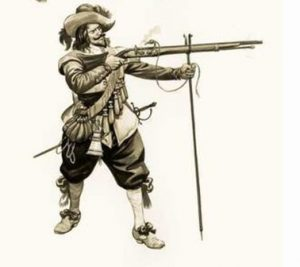 Royalist musketeer: Battle of Wakefield 20th May 1643 in the English Civil War