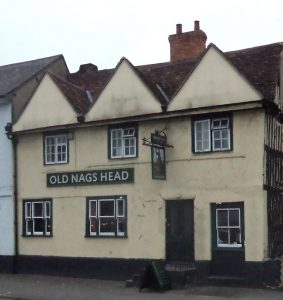 The Old Nags Head in Thame used by the Parliamentary army as a quarter: Battle of Chalgrove 18th June 1643 in the English Civil War