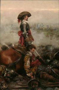 Battle of Adwalton Moor 30th June 1643 during the English Civil War