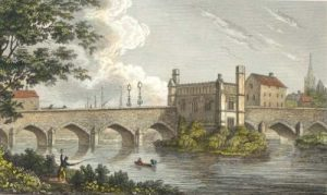 Bridge over the River Calder at Wakefield: Battle of Wakefield 20th May 1643 in the English Civil War