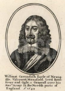 William Cavendish Earl of Newcastle Royalist commander at the Battle of Adwalton Moor 30th June 1643 during the English Civil War: engraving by Wencelaus Hollar